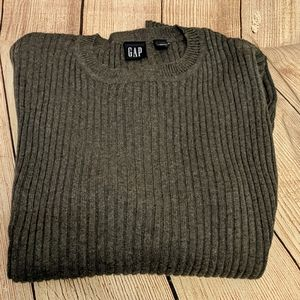 Charcoal grey ribbed sweater